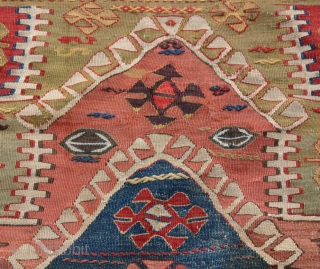 {54} Unique Konya area prayer Kilim from Cukkurcimen near Akören, south of Seydisehir. 101 x 158 cm, ca. 1850. In excellent condition.