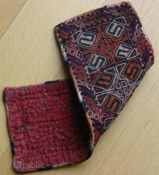 {68} Jomud talisman (armband?), 7 X 19 cm, silk stitching with cotton backing. Precious. -Kolya