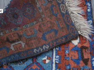 {84} Kurd prayer, 63 x 121 cm, heavy pile, cut&shut, great dyes, good size.  -Kolya