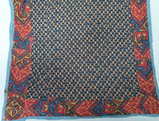 Manchester Print Book Cover(Cotton),For the holy Book, From Manchester England made for Indian Market.Roller Printed on Cotton.C.1900.its size is 55cmX60cm(20200401_153745).
