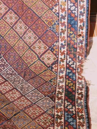 ANTIC KHAMSEH, UNUSUAL DESIGN JAF 280x108 low pile, but acceptable, good corlor. price : please enquire