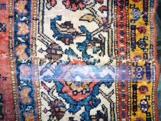 Runner BIDJAR  465 X 115 Mid-19th century, wool structure, small restorations to be envisaged Price resonable