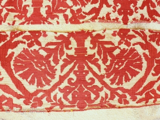 Two embroideries probably OTTOMAN circa 1800