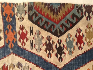 Kilim Konya, Center Anatolia, fragment, all wool, natural colors and one cochineal color 