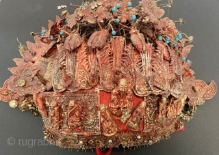 Rare Malaysian bridal set of 22K early 19th c