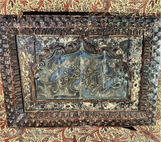 Ottoman wood painted panels , 19th c Sold each