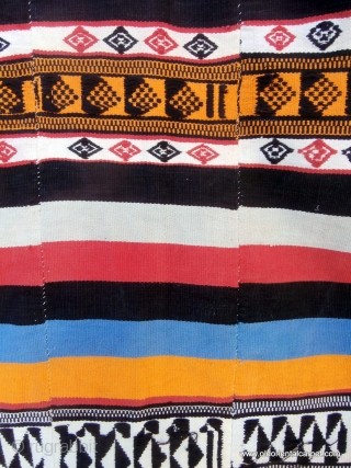 "KILIM / FLAT WEAVE called ""Kpoke"" and woven by the Mende people in Sierra Leone in West Africa. The women of this group spin the fine cotton required for these kilims but  ..."