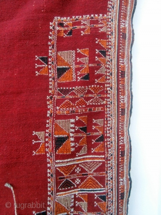 """VERY RARE TUNISIAN WEDDING CAPE known locally as a """"Bakhnuq"""" and given as a gift by the groom to his bride. Although bought in Tunis in 1981 these fine capes are woven  ..."""