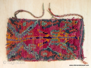 """MOROCCAN BERBER HIGH ATLAS BAG. This shape and size bag is called """"Aalau"""" and is often woven by a Berber woman to give to her daughter and son in law after marriage.  ..."""