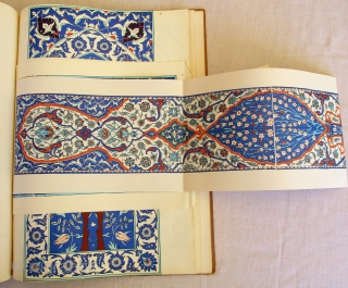 OLD TEXT BOOK OF ANTIQUE CERAMIC TILES which is an encylopaedic source of this subject. It was written by Tahsin Oz, former curator of the Topkapi Saray Museum in Istanbul. It has  ...