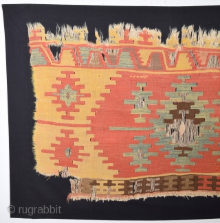 Early Anatolian Kilim Fragment Size 70 x 122 Cm