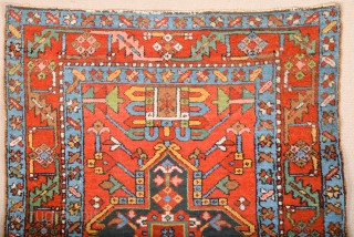 Late 19th Century Persian Karajah Rug It has happy colors and in good condition Size 106 x 135 cm