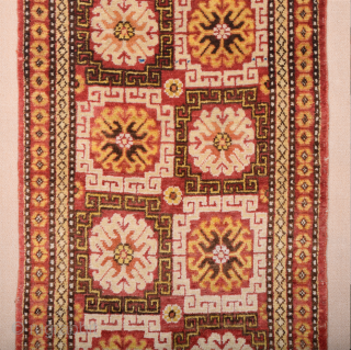 Mid 19th Century Khotan Rug All the colors are natural and ıt's in perfect condition all is original untouched piece Lovely small size 80 x 160 cm