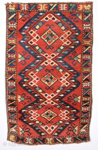 19th Century Özbek Yastık It Has Good Pile Size 55 x 90 Cm