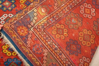 Early 19th Century Anatolian Bergama rug generally in good condition with few old restoration can see easily from pictures.square size 125 x 125 cm