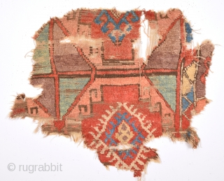 18th Century Central Anatolia Capadokia Fragment 85 x 75 Cm