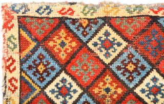 19th Century In this small-format Qashqai Colorful Bag Size 44 x 53 cm It has really good shiny wool.