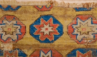 Really Unusual 18th Century Anatolian Cappadokia Fragment.Please see the down side to how desided to change design such an archaic desicion and please have a look how big The stars designs Like  ...