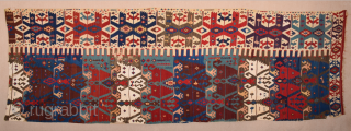 Early 19th Century Central Anatolian Hotamıs Area kilim fragment ​All the colors are natural and have​ great colors ​.You can see from images easliy some areas need small repairs really small ​!  ...