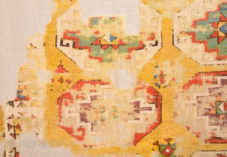 18th Century Anatolian Cappadocia Fragment Size 110 x 116 cm It has great colors and early fragment.