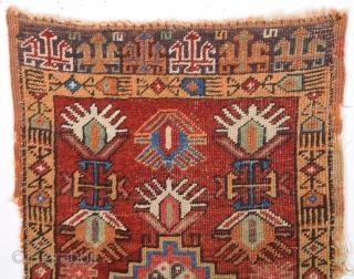 Early 19th Century Anatolian Konya Yastık.Size 55 x 90 Cm.It Has Great Colors And Age.