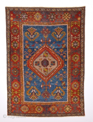 19th Century Anatolian Small Yahyalı Rug.It Has Good Qualty.Size 96 x 135 Cm.It's in good condition.