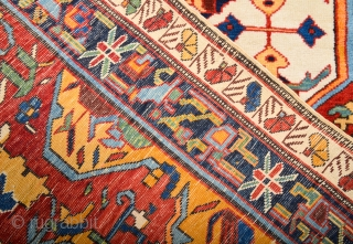 Shirvan Rug Circa 1900s size 123 x 173 cm It's in perfect condition really high pile on it all sides are original untouched piece