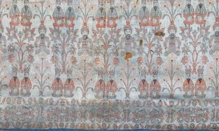 Early 19th Century Qajar Textile size 69 x 97 cm