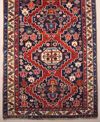 1880s Shirvan Rug ıt's in perfect condition and all original untouched piece Size 115 x 200 cm