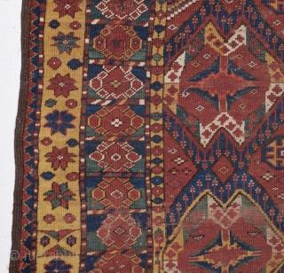 19th Century Turkmen Beshire Fragment size 154x192 cm