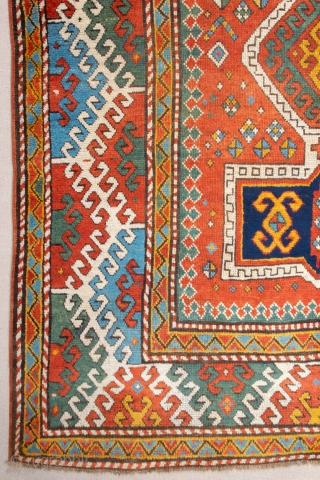Middle of 19th Century Caucasian Bordjalou Rug ıt's in very good condition has good high please on it.Size 160 x 205 cm