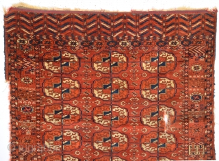 Tekke Rug Central Asia Piece Size 98 x 108 Cm As Found it.