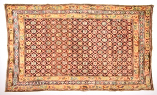 19th Century Caucasian Probably Karabag Area Rug.It's in really good  condition Size 135 x 220 Cm