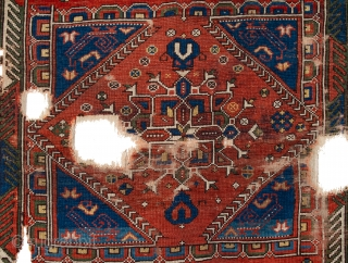 Circa 1750s West Anatolian Bergama rug Keyhole-design rug with Ghirlandaio medallion and Bellini-type arches. See similar example: Parsons Todd Bergama Rug. There are some stains in the central medallion, which can be  ...