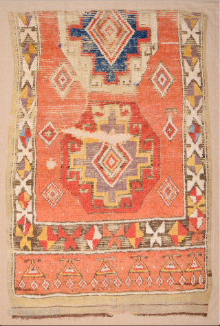 An Unusual 18th Century Central Anatolian Cappadocia Rug Fragment Perfect Colors Size 114 x 172 cm