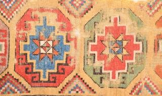 18th Century Central Anatolian Konya Rug Fragment.Size 115 x 295 Cm