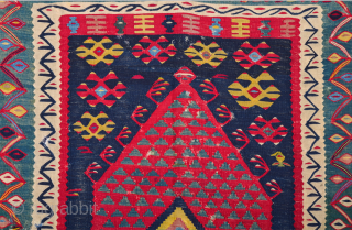 19th Century Anatolian Sharköy Kilim Size 108 x 150 cm It's in good condition.