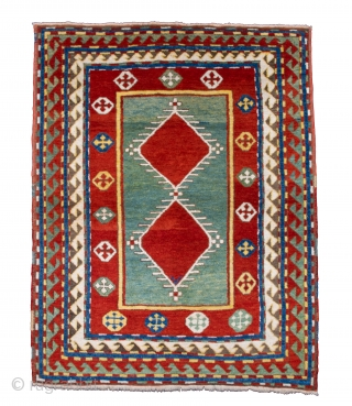 Middle of 19th Century a Nice Borjalou example first published by Schürmann in 1960 put this rare Kazak group on the map. The characteristic feature of their design is the large two  ...