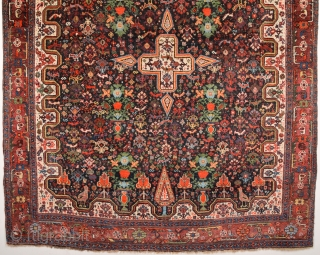 19th Century Persian Khamseh Rug in good condition size 142x185 Cm