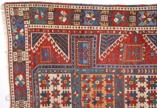 19th Century Caucasian Karatcof Rug ın Good Condition Size 158 x 208 Cm