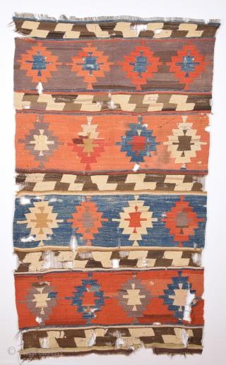 Early 19th Century Anatolian Konya Kilim Size 110 x 190 Cm.