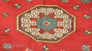 Early 18th Century Anatolian Probably Mihalic Area Prayer Rug.Size 100 x 143 Cm.As Found It.