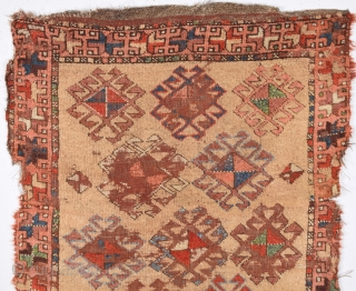 Circa 1800s Maybe Older Anatolian Kurdish Unusual Rug.Collectible Piece.Size 95 x 140 Cm