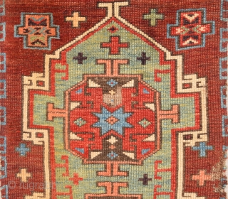 Circa 1800s Central Anatolian Probably Konya Karapınar Area Unusual Yastık.It Has Really Good Pile and Mounted Already Size 43 x 70 Cm