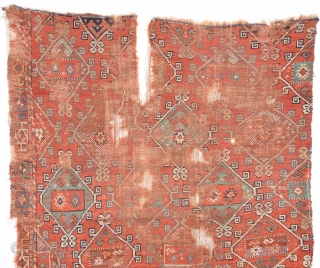 Really Unusual Early 18th Century Anatolian Rug Fragment Size 120 x 170 Cm