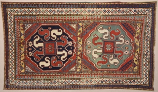 19th Century Caucasian Cloudband Rug.It's in perfect condition.Size 130 x 225 Cm