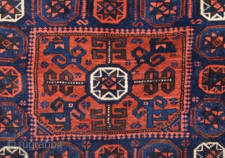 19th Century Belüch Bag Size 56 x 63 Cm It Has Really Good Pile