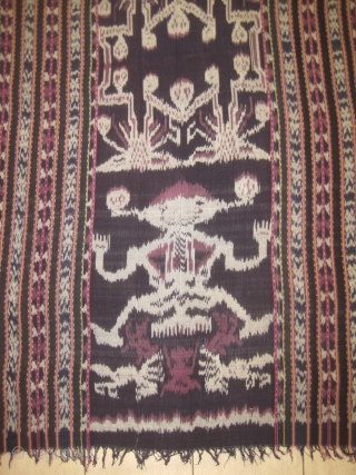 Ikat embroidery, 136 x 240 cm, in perfect condition. Carpet ID: DD-5