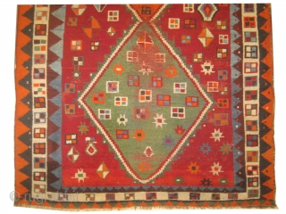 "Gabbeh Nomad Persian, knotted circa in 1918 antique, collectors item,  234 x 140 (cm) 7' 8"" x 4' 7"" carpet ID: DD-39
