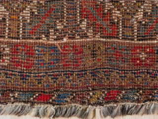 Rug no. 504: Early 20th.C Nomadic Qashqai, circa 1920, all wool, size:199x135 cm. Sourced in Shiraz, Iran, cleaned and restored on the edges. Southern Persia. It can be shipped to anywhere in the  ...